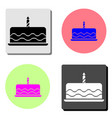 cake flat icon vector image vector image