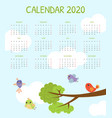 calendar 2020 monthly with cute colorful vector image