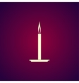 Candle icon Flat design style vector image vector image