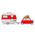 car and caravan vector image
