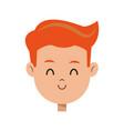 cartoon character face boy children vector image vector image