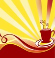 Coffee background logo vector image vector image