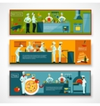 Cooking People Banner Set vector image vector image