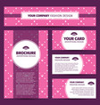 corporate identity design with princess pattern vector image