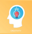 creativity concept modern gradient flat vector image