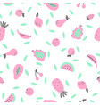 cute pink and mint fruits vector image