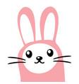 cute pink bunny funny rabbit character vector image