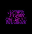 cyber monday with tech circuit board vector image vector image