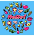 Elements For Girls Comic Style Design vector image vector image