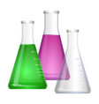 erlenmeyer conical flat-bottomed laboratory flask vector image vector image