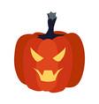evil pumpkin vector image