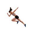 faster start running woman sprinter vector image vector image