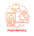 food delivery application concept icon customer vector image vector image