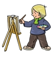 Funny artist or painter vector image vector image