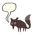 funny cartoon little wolf with speech bubble vector image vector image
