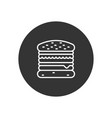 hamburger icon in modern style for web site and vector image vector image