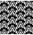 Hand painted pattern with thick inkblot vector image