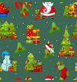 happy new year symbols seamless pattern vector image