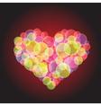 hot heart vector image vector image