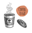 ink sketch coffee vector image
