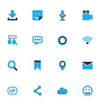 internet colorful icons set collection of wifi vector image vector image