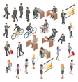 Isometric set of business people vector image vector image
