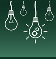light bulb icon flat idea sign symbol on green vector image