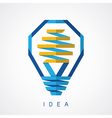 Light Bulb idea icon vector image vector image