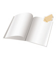 magazine blank page template f vector image