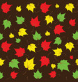 maple leaves seamless brown bright art vector image vector image