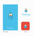 mouse company logo app icon and splash page vector image vector image