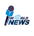 news and facts reporting logo composed using vector image vector image