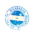 nicaragua sign vintage grunge imprint with flag vector image vector image