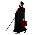 orthodox christian priest churchman isolated vector image