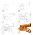 page shows how to learn step step to draw vector image vector image