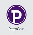 peepcoin crypto currency pcn pictogram vector image