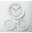 realistic wall clocks set vector image vector image