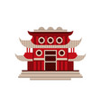 red pagoda building traditional asian vector image vector image