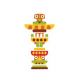 religious totem native cultural tribal symbol vector image vector image