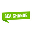 sea change speech bubble sea change ribbon sign vector image vector image