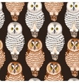 Seamless forest and polar owls vector image