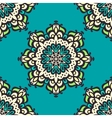 Seamless mandala pattern Hand drawn background vector image