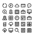 seo and marketing line icons 3 vector image vector image