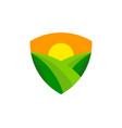 shield farm logo icon design vector image