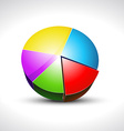 shiny pie graph icon vector image