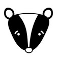 silhouette sad skunk head wild animal vector image