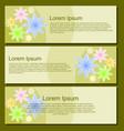 simple flower banner design vector image vector image
