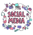 Social Media Design Concept vector image