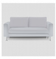 sofa bed with isolated transparent background vector image
