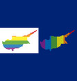 spectrum pixel dotted cyprus island map vector image